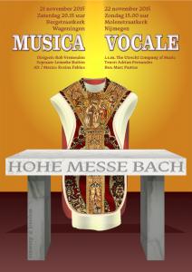Flyer voor de Hohe Messe van J. S. Bach